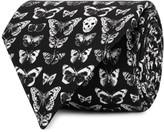 Alexander Mcqueen Moth-print Silk Tie