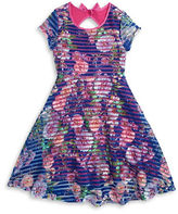 Iris & Ivy Girls 7-16 Mesh Floral Dress