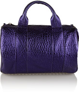 Alexander Wang Rocco metallic textured-leather shoulder bag