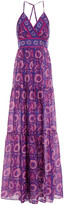Thumbnail for your product : BA&SH Kemi Open-back Printed Silk-voile Maxi Dress