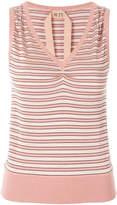 No.21 sleeveless striped knit