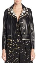 RED Valentino Star Patch Leather Jacket