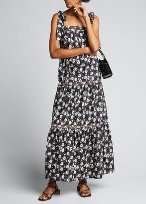 Warm Big Love Floral-Print Maxi Dress