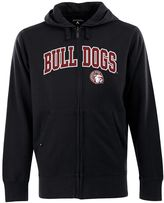 Antigua Men's Mississippi State Bulldogs Signature Zip Front Fleece Hoodie
