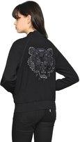 Kenzo Embroidered Satin Backed Crepe Jacket