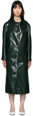 Christopher Kane Green Coated Jersey Coat