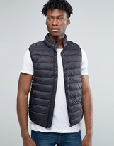 Pull&Bear Padded Vest In Black