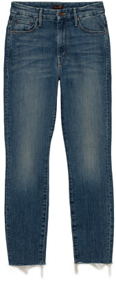 Singer22 High Waisted Looker Ankle Fray Jean