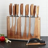 Crate & Barrel Schmidt Brothers ® 15-Piece Zebra Wood Knife Block Set