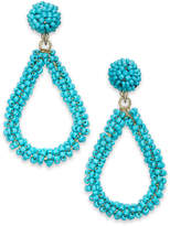 INC International Concepts I.N.C. Gold-Tone Beaded Teardrop Drop Earrings, Created for Macy's