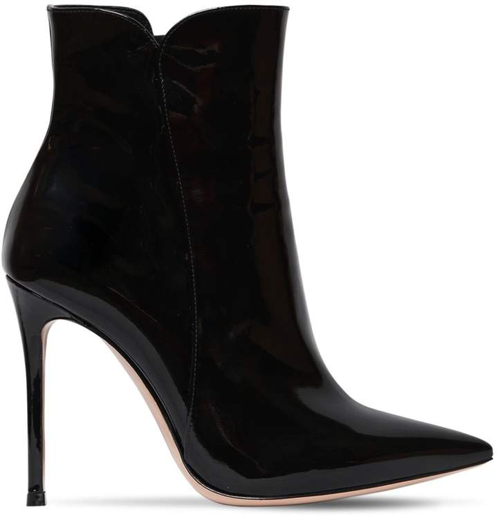 Gianvito Rossi 105mm Patent Leather Ankle Boots