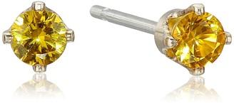 Kris Nations November Birthstone Gold Stud Earrings