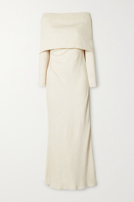 Johanna Ortiz The Real Truth Draped Crinkled-crepe Maxi Dress - Ecru