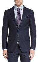 Isaia Box-Check Super 160s Wool Two-Piece Suit, Navy