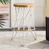 Safavieh Lorna Gold Finish Counter Stool