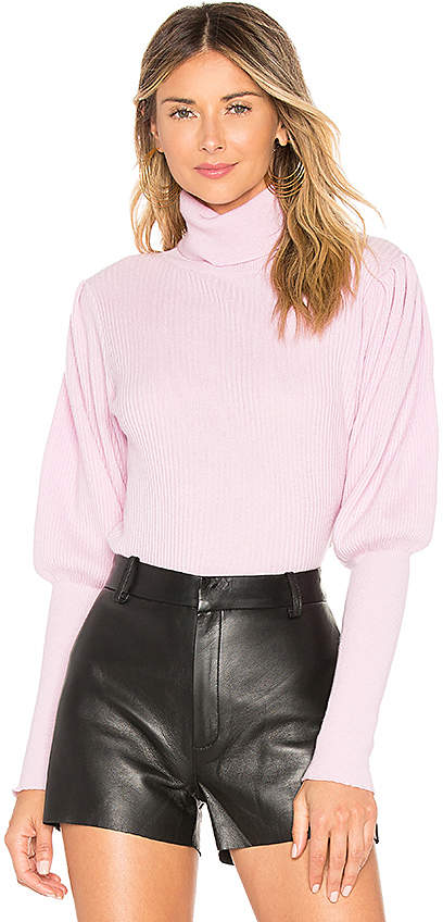 Milly Cashmere Puff Sleeve Sweater