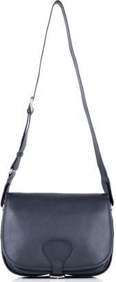 Richmond David Hampton Leather Sophie Saddle Bag In Midnight