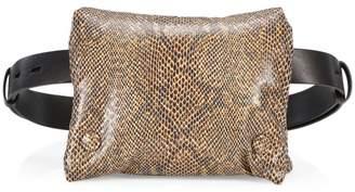 Nanushka Tao Vegan Leather Puffer Belt Bag