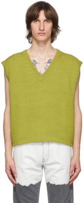 Enfants Riches Deprimes Green Boxy Sweater Vest