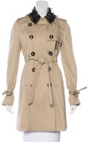 RED Valentino Lace-Accented Trench Coat