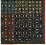 Drakes Drake's Men's Patchwork-Motif Wool-Silk Pocket Square-GREEN