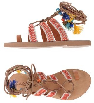 Coral Blue Toe post sandal