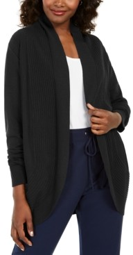 Karen Scott Cocoon Open-Front Cardigan, Created for Macy's