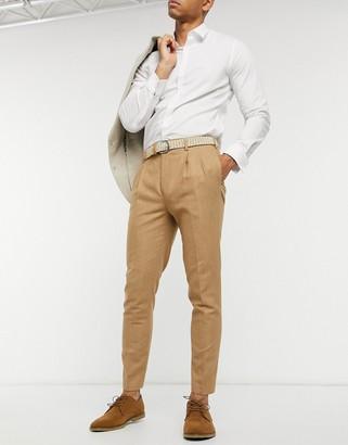 Gianni Feraud wool-mix carrot-fit ankle grazer smart pants