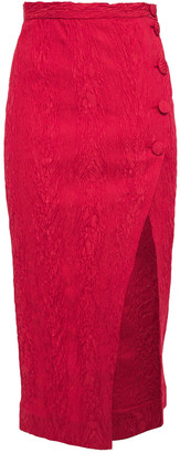 ALEXACHUNG Cloque Wrap Skirt