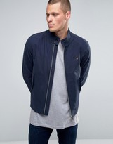 Farah Harrington Jacket In Navy Cotton