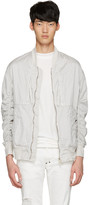 Diet Butcher Slim Skin White Garment-dyed Fight Jacket
