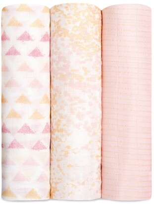 Aden Anais aden + anais Soft Primrose Printed Swaddles (Set of 3)