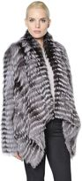 Yves Salomon Draped Fox Fur Jacket