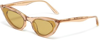 Møy Atelier Come Fly With Me' gold thread accent cateye sunglasses