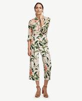 Ann Taylor Petite Garden Print Drapey Pants