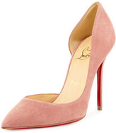 Christian Louboutin Iriza Half-d'Orsay 100mm Red Sole Pump, Pink