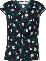 Carolina Herrera floral tie neck top