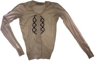 Designers Remix Beige Cashmere Jacket for Women