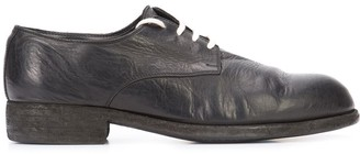 Guidi Contrast Lace-Up Derby Shoes