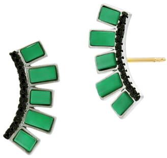 Freida Rothman Industrial Finish Fan Earrings