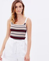 MinkPink Downtown Stripe Knit Top