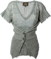 Vivienne Westwood layered buttoned knitted blouse