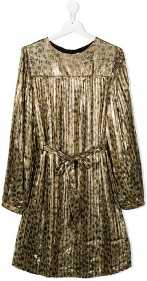 The Marc Jacobs Kids Metallic Leopard Print Dress