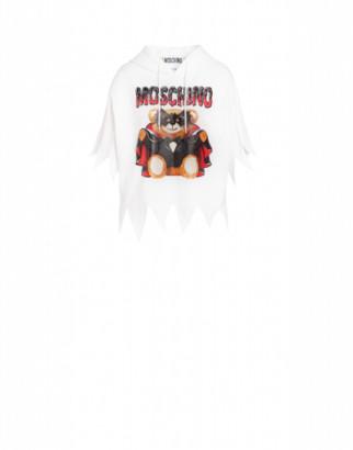Moschino Bat Teddy Bear Jersey Sweatshirt Woman White Size 36 It - (2 Us)