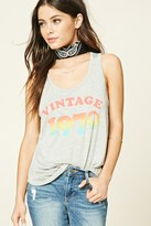 Forever 21 FOREVER 21+ Vintage 1970 Graphic Tank Top