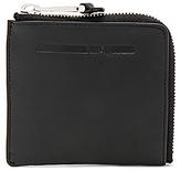 McQ 2 Side Zip Wallet in Black.