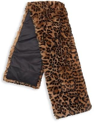 Apparis Jasper Leopard-Print Faux Fur Scarf