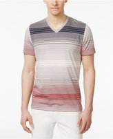 INC International Concepts Men's Striped Cotton V-Neck T-Shirt, Only at Macy's
