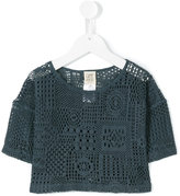 Caffe' D'orzo - crocheted top - kids - Cotton/Polyamide - 4 yrs