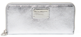 Marc by Marc Jacobs Classic Q Slim Metallic Leather Zip Around Wallet